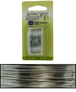 WR23822 = Artistic Wire Dispenser Pack Stainless Steel 22ga (8 yds)