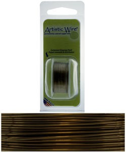 WR22922 = Artistic Wire Dispenser Pack Antique Brass 22ga 8 Yards