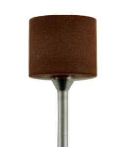ST6006 = TopStar Brown Mounted Cylinder Medium  12 x 14mm (Pkg of 2)
