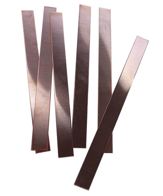 "MSC35018 = Copper Bracelet Blank 18ga  6"" x 1/2"" (Pkg of 6)"