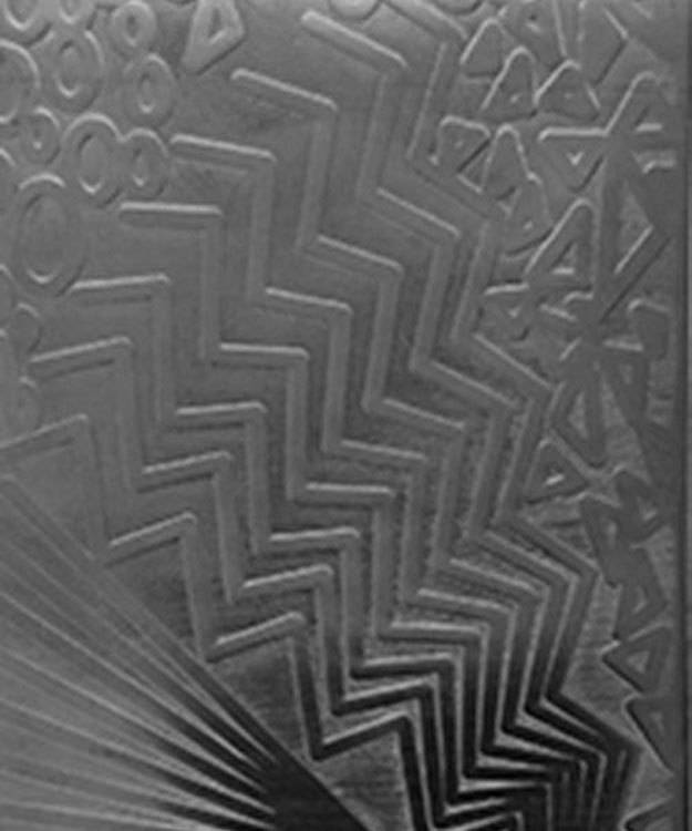 SSP3820 = Patterned Sterling Silver Sheet ''Multi Pattern'' 2'' x 6'' 20ga