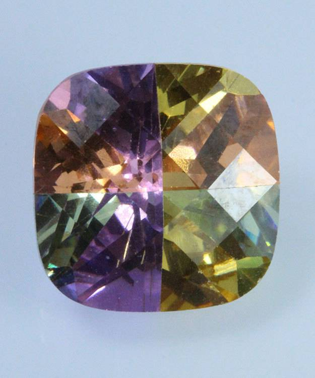 LSAN12X12 = Lucky Stone Antique Cut CZ 12x12mm (Each) **CLOSEOUT**