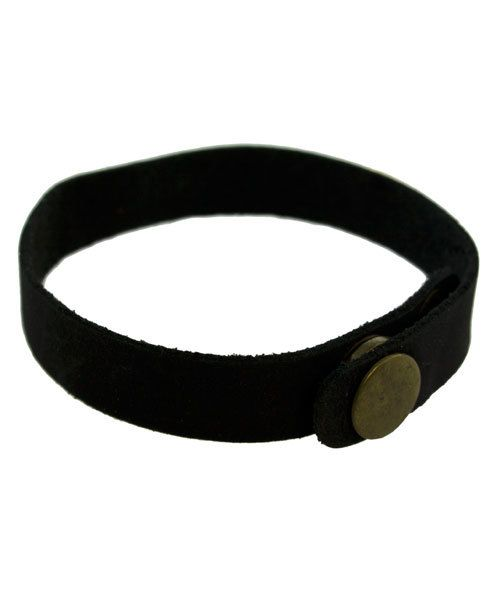 LE2000 = Leather Cuff Black 1/2'' Wide with 2 Snaps