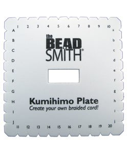 KD601 = Kumihimo Disc Square 10mm Thick English 6in Diameter 35mm Hole