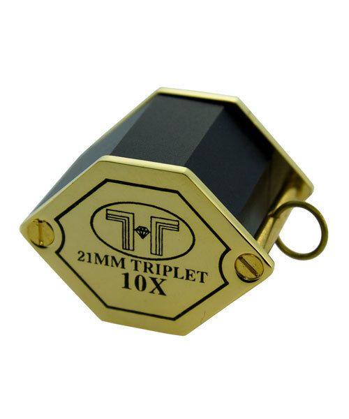 EL407 = LOUPE GOLD TONE 10X HEX TRIPLET