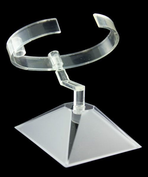 DWA9150 = Clear Plastic Adjustable Watch Stand  (Pkg of 10)