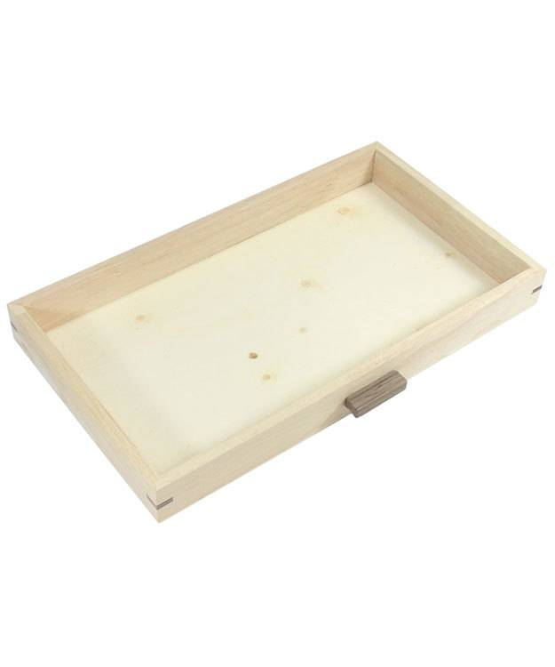 DTR2816 = Natural Wood Organizer with 6 Trays
