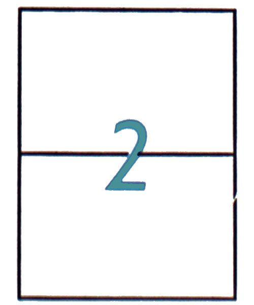 Maco Labels DTA90200 = MACO ALL PURPOSE LABELS 5-1/2'' x 8-1/2'' (200 per box) WHITE
