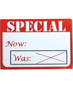 "DTA2798 = Adhesive Labels ""SPECIAL"" 1-5/8"" x 1-1/8""  (Pkg of 500)"