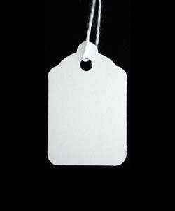 DTA1207 = Paper String Tag 7/8'' x 1-1/4'' White (Pkg of 1000)