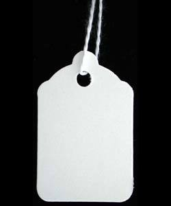 DTA1205 = Paper String Tag 15/16'' x 1-1/2'' White (Pkg of 1000)