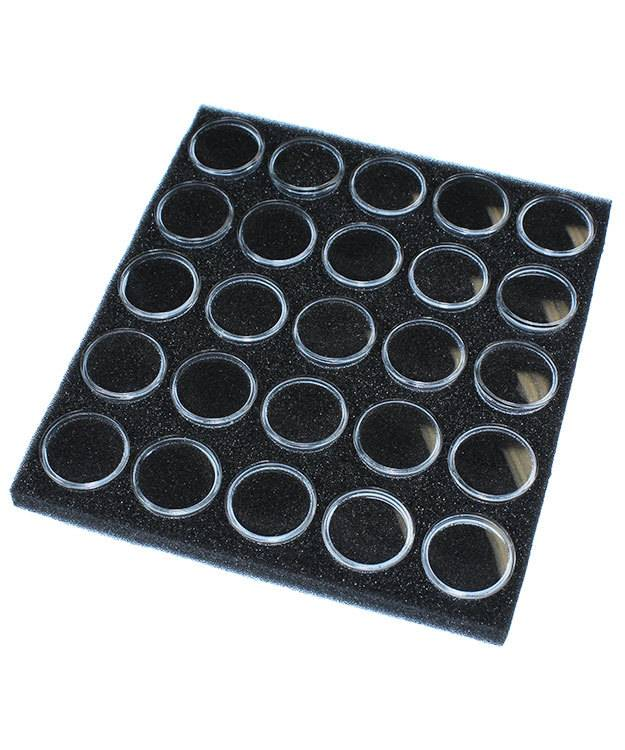 DST2525 = Gem Jar Tray Insert with 25 Jars in Black