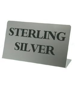 DSI5880 = Metal Sign 3''x2''   ''STERLING SILVER''
