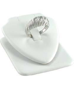 DRG6301 = White Leatherette Design Flex Ring Insert 2''x2 1/4''