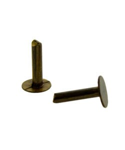 CCBV1021 = VINTAJ BRASS NAIL HEAD RIVET 1/4'' LONG (Pkg of 40) **CLOSEOUT**