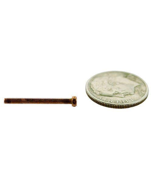 CCCP3039 = HEX HEAD SCREW 1.8mm x 3/4'' COPPER PLATED BRASS (Pkg of 10)
