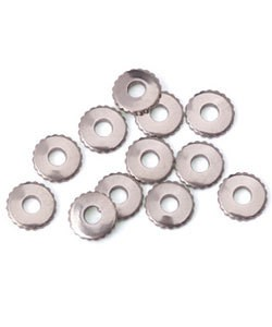 CCNS1504 = NICKEL SILVER RIVET ACCENT KNURLED for RIVET TOOL (12pcs)