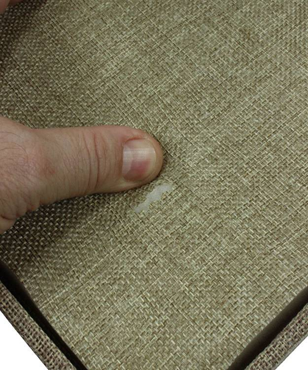 DRG3101 = Burlap Ring Tray with 72 Space Foam Insert