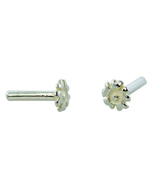 CCSP1200 = Silver Plated Brass Rivet Flower (Pkg of 10pcs)