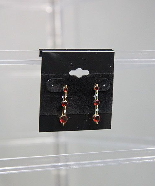 DIS9322 = Countertop Rotating Earring Case Holds 96, 2'' Earring Cards