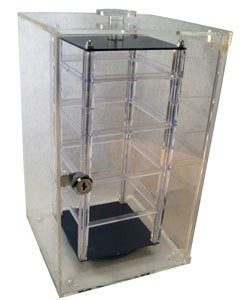 DIS9320 = COUNTERTOP ROTATING EARRING CASE HOLDS 32 -2'' CARDS