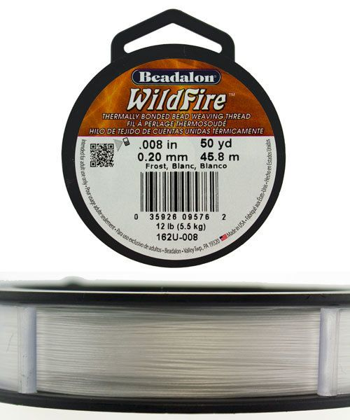 CD3311 = Wildfire .008'' By Beadalon Frost 50yds