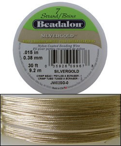 "CD40715SG = Beadalon 7  .015""  SILVERGOLD 30 FT Spool"