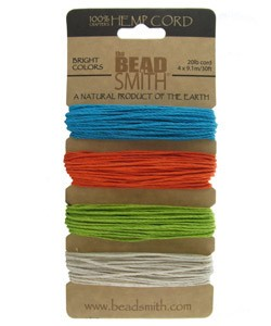 CD6240 = Hemp Cord Bright Colors Assortment Card 1.0mm 20lb TEST