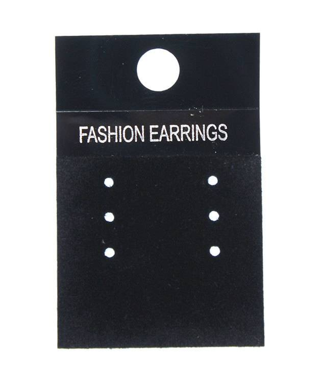 DER815 = Multi-Earring Card Black for Fashion Earrings (Pkg of 100)
