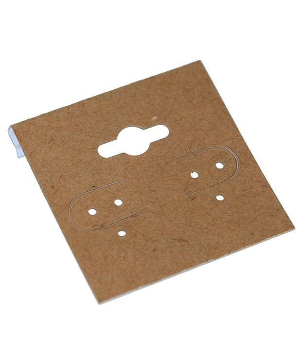 Der750 Hanging Earring Card Kraft Paper Covered 1 5