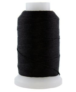 CD7019 = Silk Thread 1/2oz Spool BLACK SIZE FF