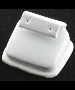 DER6212 = White Leatherette Mini Earring Stand (Pkg of 3)