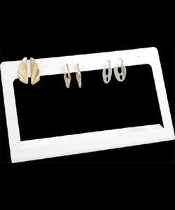 DER6148 = LEATHERETTE EARRING STANDS OPEN FRONT 7-5/8X4-1/2 HIGH