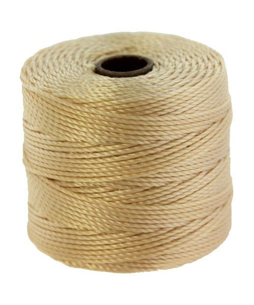 CD7907 = S-Lon Bead Cord NATURAL 77yd TUBE