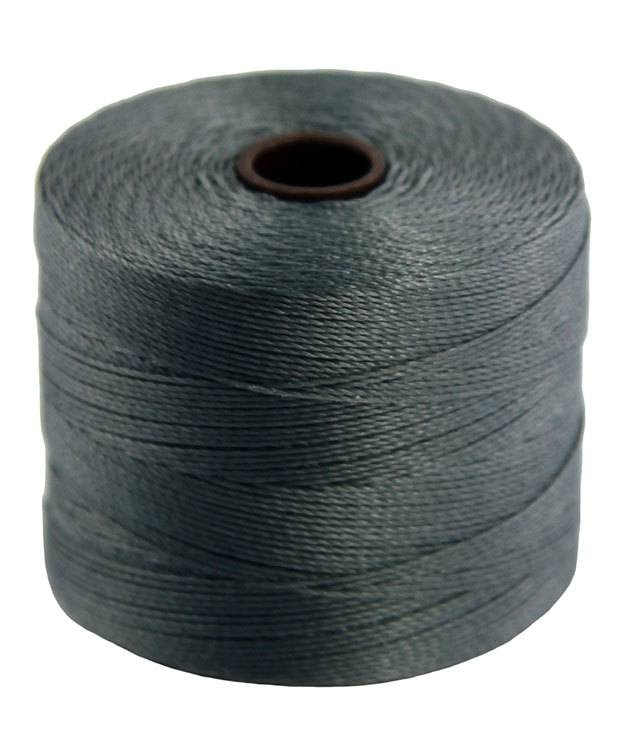 CD7942 = S-Lon Bead Micro Cord Grey 287yd Spool