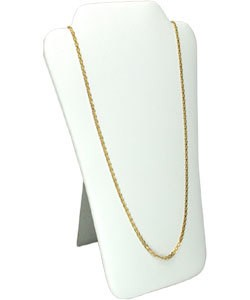 DCH6679 = LEATHERETTE NECKLACE EASELS  PADDED  7-5/8'' X 12-1/2''H
