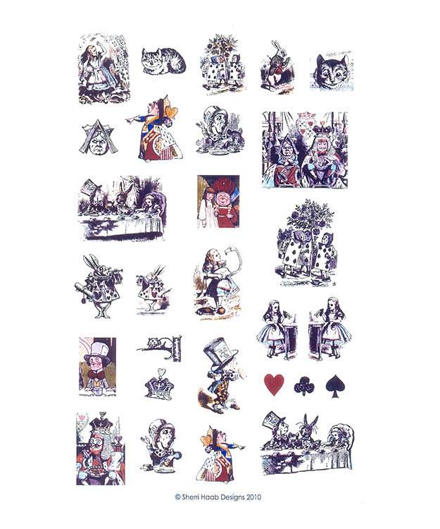 CE7218 = ITS Image Collage - Alice in Wonderland Pictures