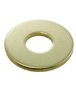 "MSBR18312 = Brass Washer 1"" Dia with 3/8"" Hole (12ga) (Pkg of 6)"