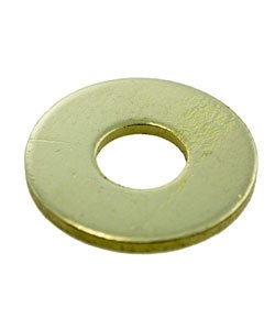 "MSBR18114 = Brass Washer 7/8"" Dia with 5/16"" Hole (14ga) (Pkg of 6)"
