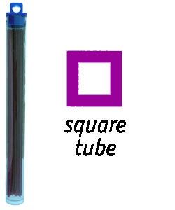 CA1973 = Cowdery Wax SQUARE TUBE 2.0mm - PURPLE