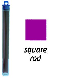 CA1962 = Cowdery Wax SOLID SQUARE 3.5mm - PURPLE