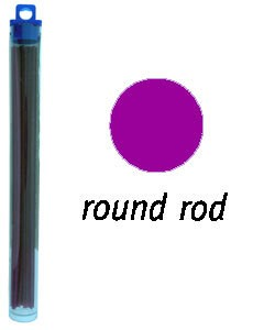 CA1953 = Cowdery Wax SOLID ROUND 2.5mm - PURPLE