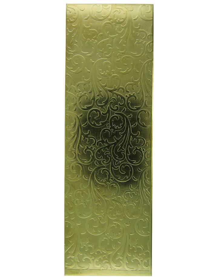 BSP3520 = Patterned Brass Sheet ''Vines''  2'' x 6'' 20ga