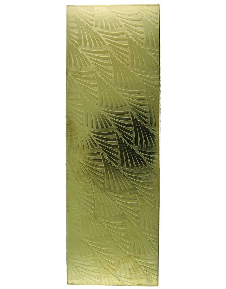 BSP3918 = Patterned Brass Sheet ''Tropical Fern''  2'' x 6'' 18ga