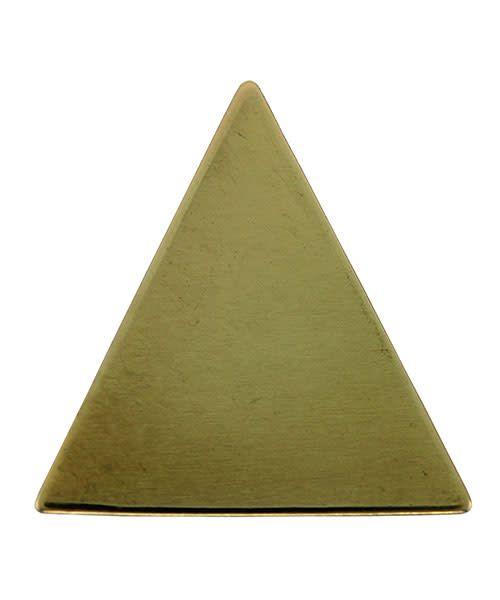 MSBR72324 = Brass Shape - Triangle 18 x 18.5mm (Pkg of 10)