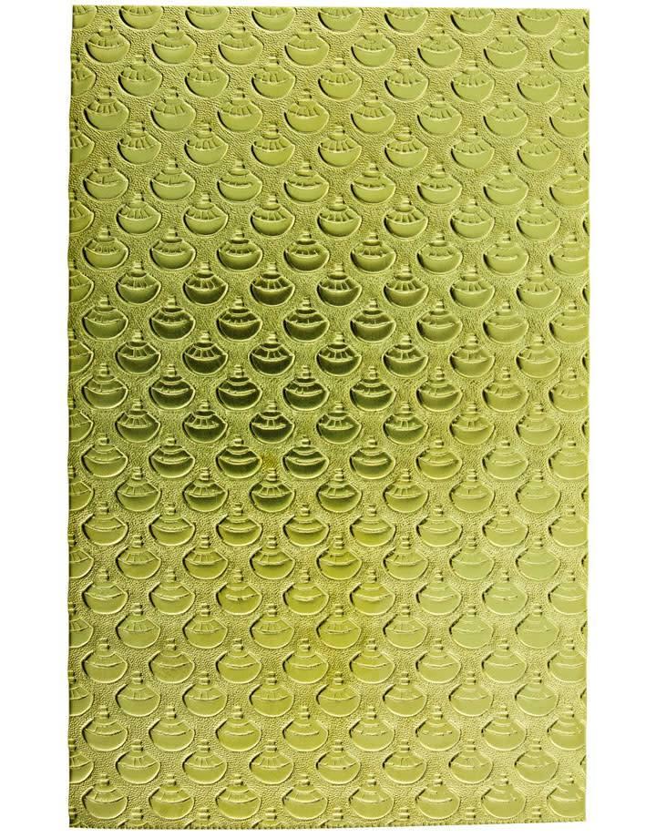 """BSP249 Patterned Brass Sheet 2-1/2"""" Wide"""