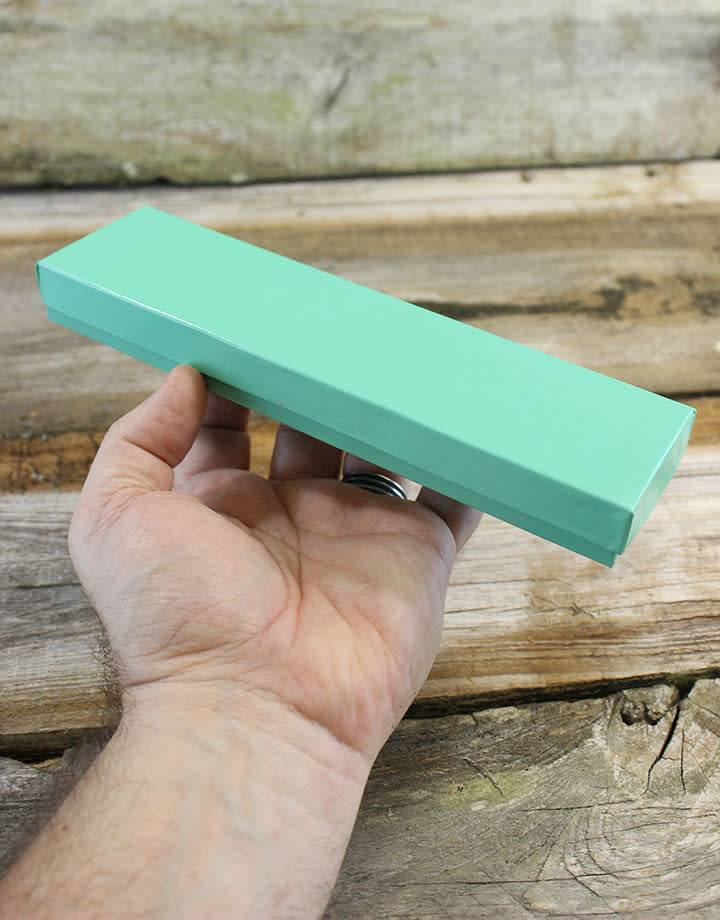 DBX2882T = Cotton Filled Box Teal Color  8'' x 2'' x 1''  (Case of 100)