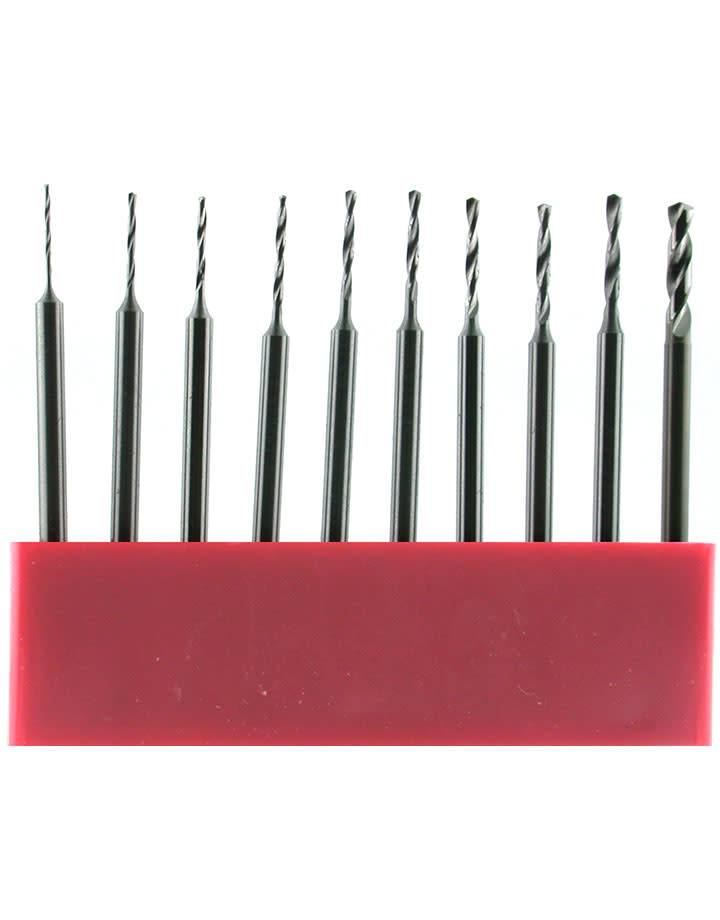 28.601G = Uniform Shank Twist Drill Set 10pcs (Sizes 0.5 to 1.4mm)