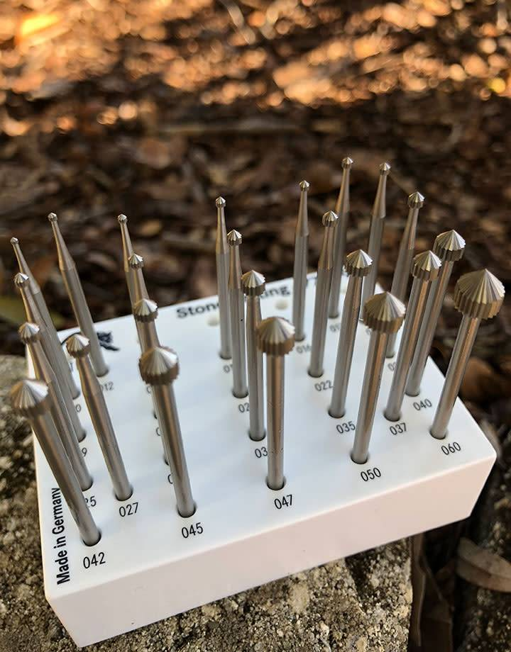 18.131G = SETTING BUR SET TUNGSTEN/VANADIUM (1.0 to 6.0mm) 24pcs