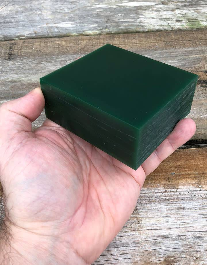 Dumatt green carving wax block lb fdj tool